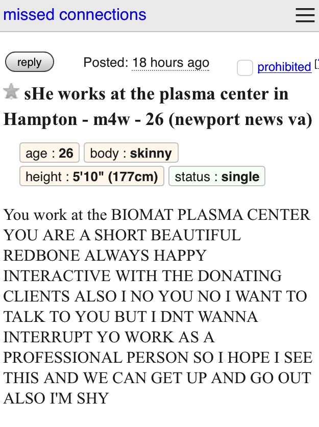 Craigslist new york casual encounters